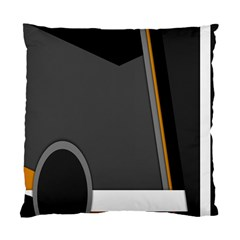 Flag Grey Orange Circle Polka Hole Space Standard Cushion Case (one Side) by Mariart