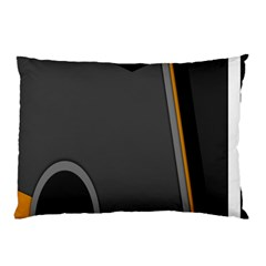 Flag Grey Orange Circle Polka Hole Space Pillow Case by Mariart