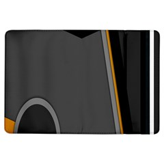 Flag Grey Orange Circle Polka Hole Space Ipad Air Flip by Mariart