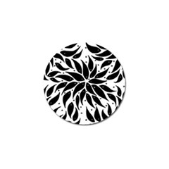 Flower Fish Black Swim Golf Ball Marker (4 Pack) by Mariart