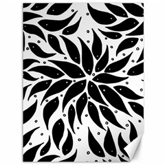 Flower Fish Black Swim Canvas 36  X 48
