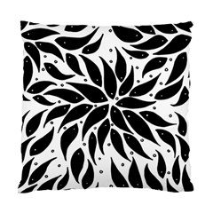 Flower Fish Black Swim Standard Cushion Case (one Side)