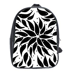 Flower Fish Black Swim School Bags(large)  by Mariart