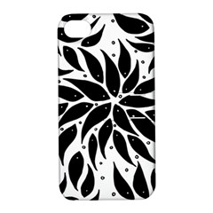 Flower Fish Black Swim Apple Iphone 4/4s Hardshell Case With Stand by Mariart