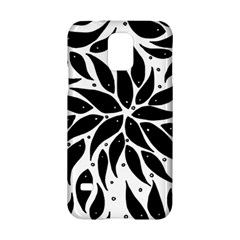 Flower Fish Black Swim Samsung Galaxy S5 Hardshell Case  by Mariart