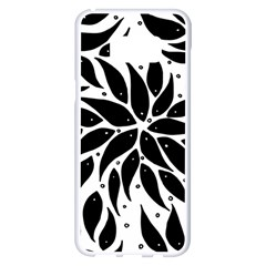 Flower Fish Black Swim Samsung Galaxy S8 Plus White Seamless Case by Mariart