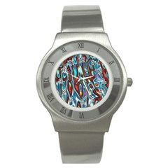 Dizzy Stone Wave Stainless Steel Watch by Mariart