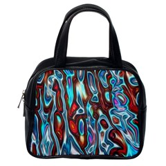Dizzy Stone Wave Classic Handbags (one Side) by Mariart
