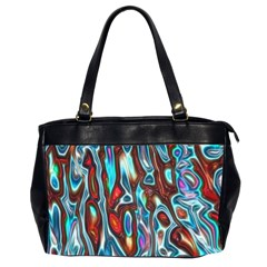 Dizzy Stone Wave Office Handbags (2 Sides)  by Mariart
