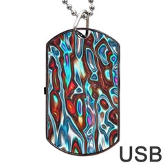 Dizzy Stone Wave Dog Tag Usb Flash (two Sides) by Mariart