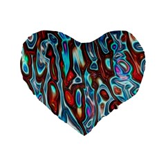 Dizzy Stone Wave Standard 16  Premium Heart Shape Cushions by Mariart