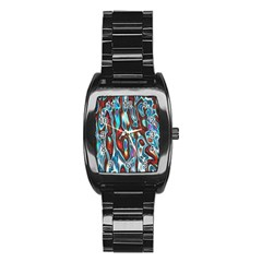 Dizzy Stone Wave Stainless Steel Barrel Watch by Mariart