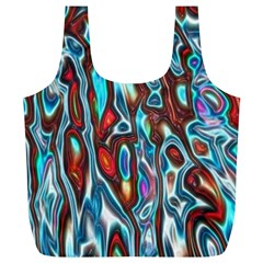 Dizzy Stone Wave Full Print Recycle Bags (l)  by Mariart