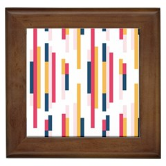 Geometric Line Vertical Rainbow Framed Tiles by Mariart