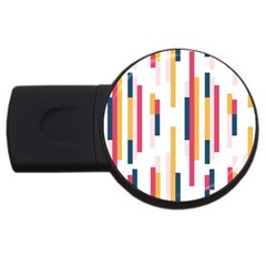 Geometric Line Vertical Rainbow Usb Flash Drive Round (2 Gb) by Mariart