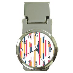 Geometric Line Vertical Rainbow Money Clip Watches by Mariart