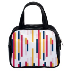Geometric Line Vertical Rainbow Classic Handbags (2 Sides) by Mariart