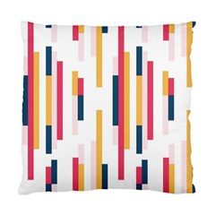 Geometric Line Vertical Rainbow Standard Cushion Case (one Side)