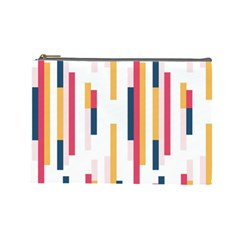 Geometric Line Vertical Rainbow Cosmetic Bag (large)