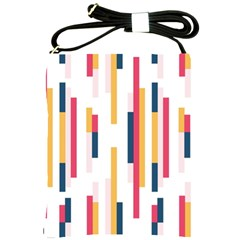 Geometric Line Vertical Rainbow Shoulder Sling Bags by Mariart