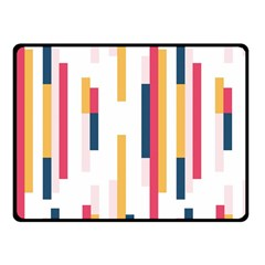 Geometric Line Vertical Rainbow Fleece Blanket (small) by Mariart