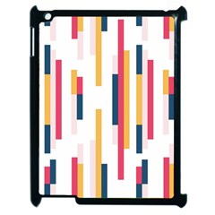 Geometric Line Vertical Rainbow Apple Ipad 2 Case (black) by Mariart