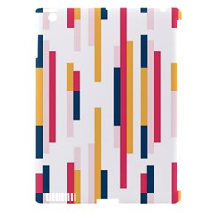 Geometric Line Vertical Rainbow Apple Ipad 3/4 Hardshell Case (compatible With Smart Cover) by Mariart
