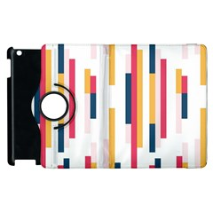 Geometric Line Vertical Rainbow Apple Ipad 3/4 Flip 360 Case by Mariart