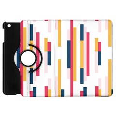 Geometric Line Vertical Rainbow Apple Ipad Mini Flip 360 Case