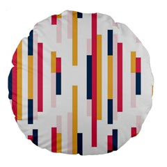 Geometric Line Vertical Rainbow Large 18  Premium Round Cushions by Mariart