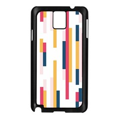Geometric Line Vertical Rainbow Samsung Galaxy Note 3 N9005 Case (black) by Mariart