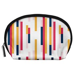 Geometric Line Vertical Rainbow Accessory Pouches (large)  by Mariart