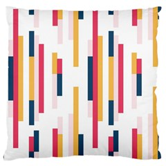 Geometric Line Vertical Rainbow Large Flano Cushion Case (one Side) by Mariart