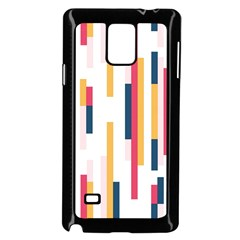 Geometric Line Vertical Rainbow Samsung Galaxy Note 4 Case (black) by Mariart