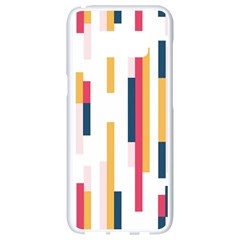 Geometric Line Vertical Rainbow Samsung Galaxy S8 White Seamless Case by Mariart