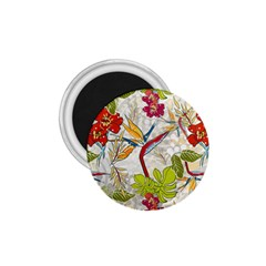 Flower Floral Red Green Tropical 1 75  Magnets by Mariart