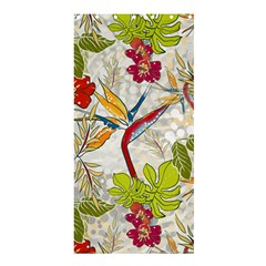 Flower Floral Red Green Tropical Shower Curtain 36  X 72  (stall)  by Mariart