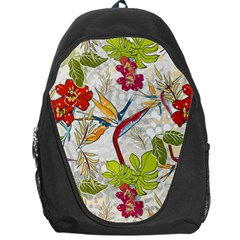 Flower Floral Red Green Tropical Backpack Bag by Mariart
