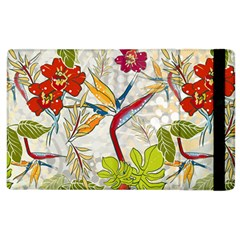 Flower Floral Red Green Tropical Apple Ipad 2 Flip Case by Mariart