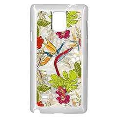 Flower Floral Red Green Tropical Samsung Galaxy Note 4 Case (white) by Mariart
