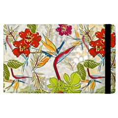Flower Floral Red Green Tropical Apple Ipad Pro 9 7   Flip Case by Mariart