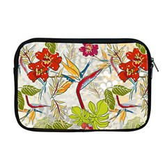 Flower Floral Red Green Tropical Apple Macbook Pro 17  Zipper Case