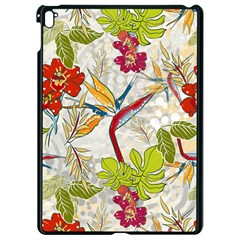 Flower Floral Red Green Tropical Apple Ipad Pro 9 7   Black Seamless Case by Mariart