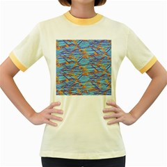 Geometric Line Cable Love Women s Fitted Ringer T Shirts by Mariart