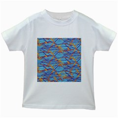 Geometric Line Cable Love Kids White T Shirts