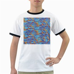 Geometric Line Cable Love Ringer T Shirts
