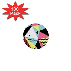 Geometric Polka Triangle Dots Line 1  Mini Buttons (100 Pack)  by Mariart