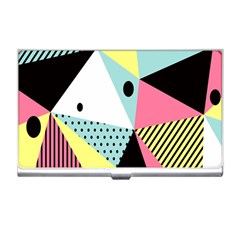 Geometric Polka Triangle Dots Line Business Card Holders by Mariart