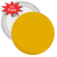 Amber Solid Color  3  Buttons (10 Pack)  by SimplyColor