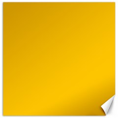 Amber Solid Color  Canvas 20  X 20   by SimplyColor